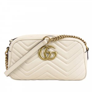 Gucci Small GG Marmont Matelasse Leather Crossbody Bag