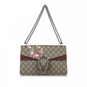 Gucci Small GG Supreme Blooms Dionysus Shoulder Bag