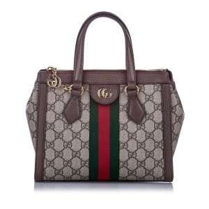 Gucci Small GG Supreme Ophidia Satchel
