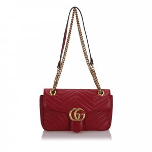 Gucci Small Marmont Leather Shoulder Bag