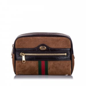 Gucci Small Ophidia Suede Belt Bag