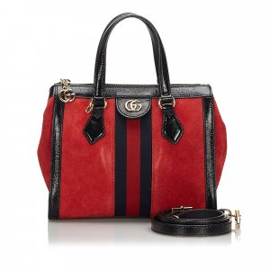 Gucci Satchel red suede