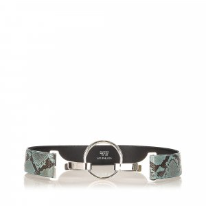 Gucci Cinturón negro piel de reptiles