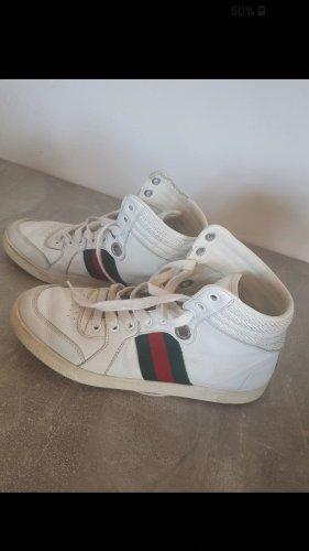 Gucci Sneaker Basket montante blanc