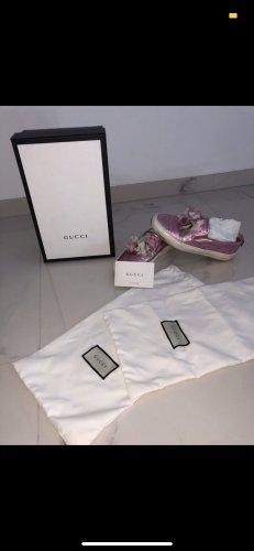 Gucci Zapatillas deslizantes color rosa dorado Cuero