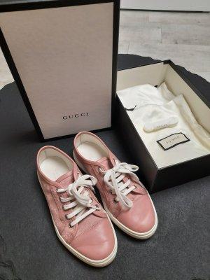 Gucci Sneaker stringata rosa pallido Tessuto misto