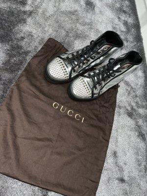 Gucci Sneakers met veters zilver