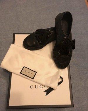 Gucci Sznurowane trampki czarny-szary
