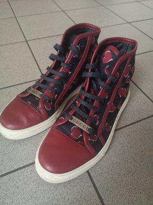 Gucci Sneaker stringata bordeaux-blu scuro