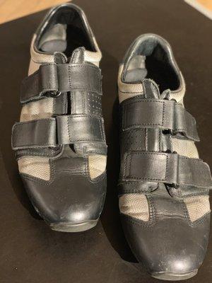 Gucci Zapatillas con velcro negro-color plata Cuero