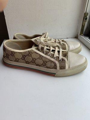 Gucci Sneaker in Stoff und Leder in GG Print