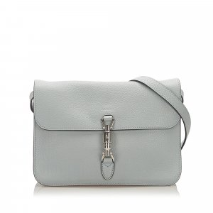 Gucci Soft Jackie Convertible Leather Crossbody Bag