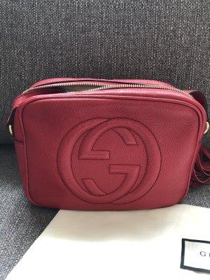 Gucci Bandolera rojo Cuero