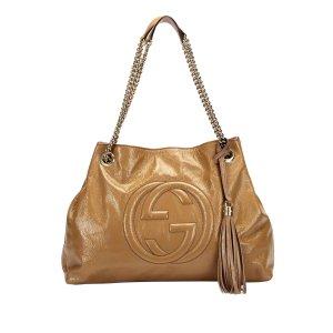 Gucci Bolso de compra marrón Imitación de cuero