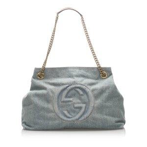 Gucci Soho Denim Chain Shoulder Bag