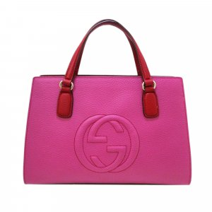 Gucci Handtas rosé Leer