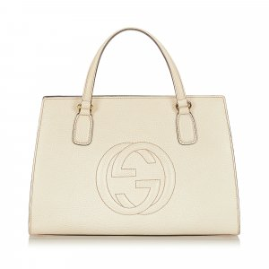 Gucci Satchel white leather