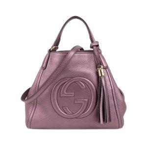 Gucci Sacoche violet cuir