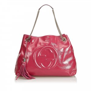 Gucci Soho Patent Leather Chain Shoulder Bag