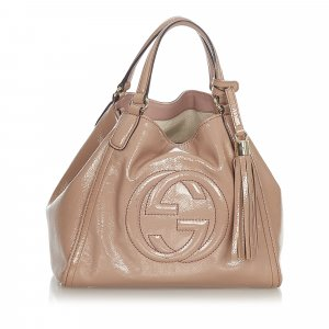 Gucci Satchel beige imitation leather