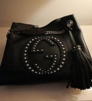 GUCCI SOHO Tote Bag mit Nieten-Logo