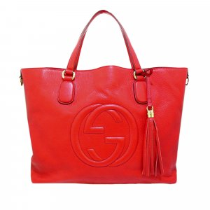 Gucci Soho Working Leather Tote Bag