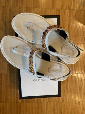 Gucci Wygodne sandały kremowy