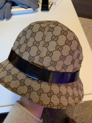 Gucci Cappello impermeabile ocra-marrone scuro