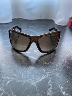 Gucci Gafas de sol cuadradas color oro-marrón