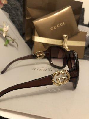 Gucci Oval Sunglasses bronze-colored