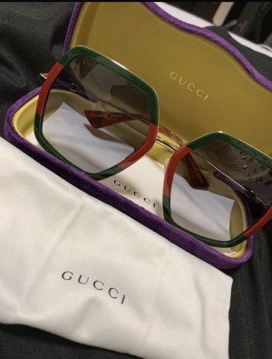 Gucci Round Sunglasses red-forest green