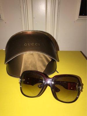 Gucci Lunettes retro rouge brique-rouge carmin