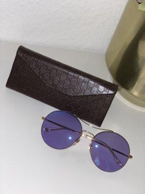 Gucci Gafas de sol redondas púrpura-color oro