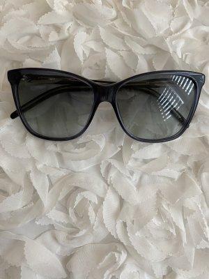 Gucci Occhiale da sole spigoloso blu-grigio ardesia