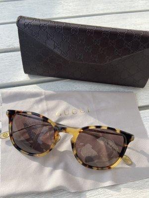 Gucci Lunettes retro beige-brun foncé