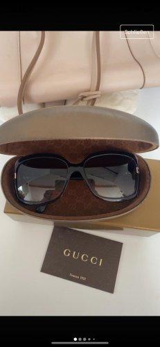 Gucci Okulary retro brązowo-fioletowy-bordo