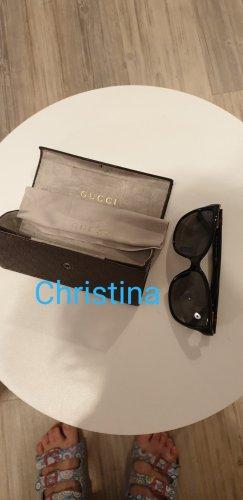 Gucci Ovale zonnebril zwart