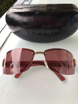 Gucci Lunettes de soleil angulaires or rose-doré