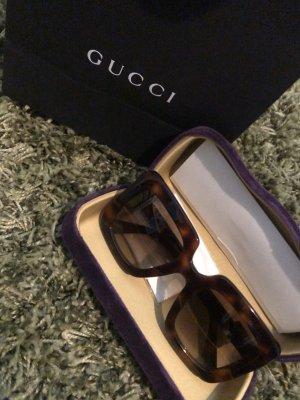 Gucci Occhiale da sole spigoloso marrone