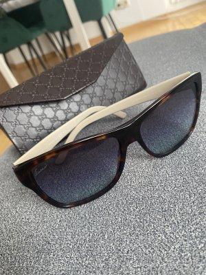 Gucci Gafas de sol cuadradas marrón-azul aciano