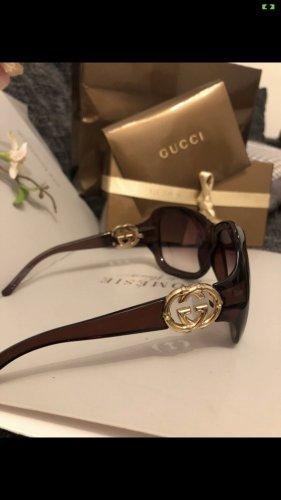 Gucci Owalne okulary przeciwsłoneczne brązowy