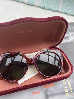 Gucci Gafas de sol redondas carmín