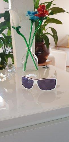Gucci Occhiale da sole rotondo bianco-blu
