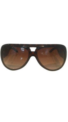 Gucci Okulary czarno-brązowy Tkanina z mieszanych włókien