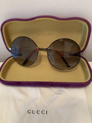 Gucci Gafas de sol redondas color oro-color plata