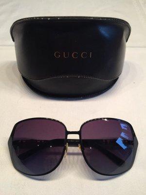 Gucci Occhiale a farfalla nero-marrone chiaro Tessuto misto