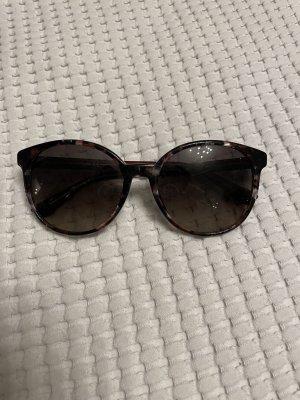 Gucci Gafas de sol redondas marrón-negro