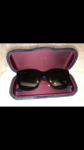 Gucci Angular Shaped Sunglasses red-blue