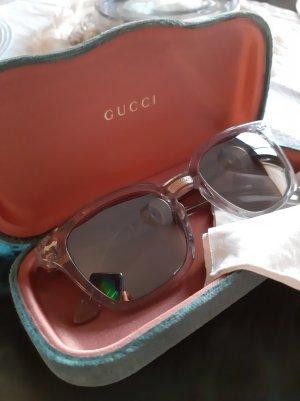 Gucci Sonnenbrille, Damen, Unisex, Gold, Transparent, Bläulich, Silber, verspiegelt