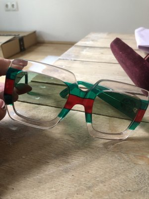 Gucci Glasses forest green-red